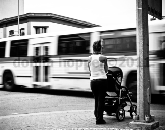 Bus and stroller